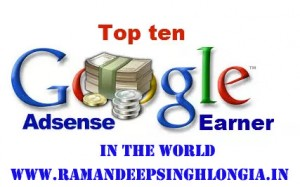 Google Adsense Top 10 Highest Earners - 2016
