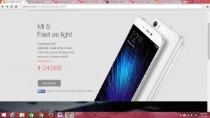 Xiaomi Mi 5 out of stock within few seconds making a fool