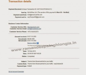 Revenuehits Review and revenuehits.com Payment Proof 2015