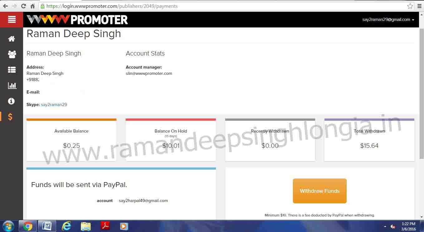 wwwpromoter Paymet Proofs Dashboard